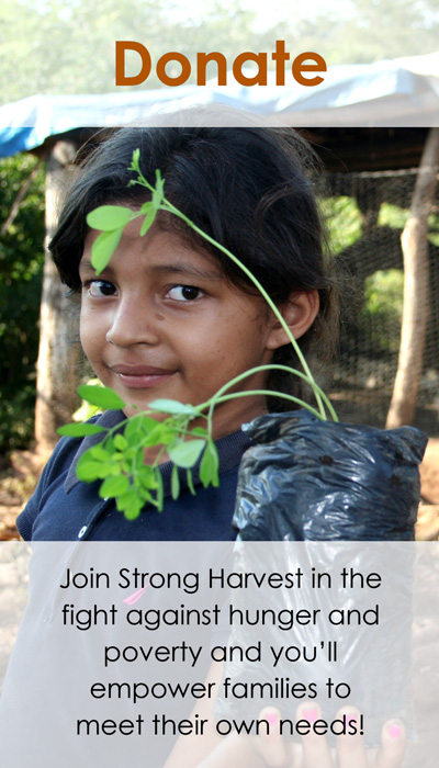 Join Strong Harvest in the fight against hunger and poverty.