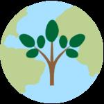 earth w tree green
