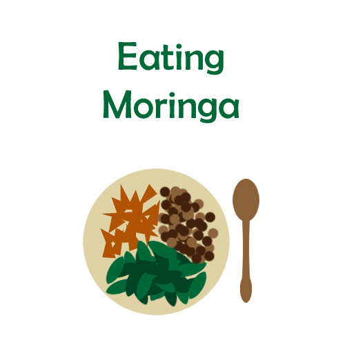 Eating moringa