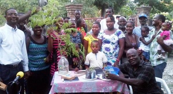 Moringa training in Haiti
