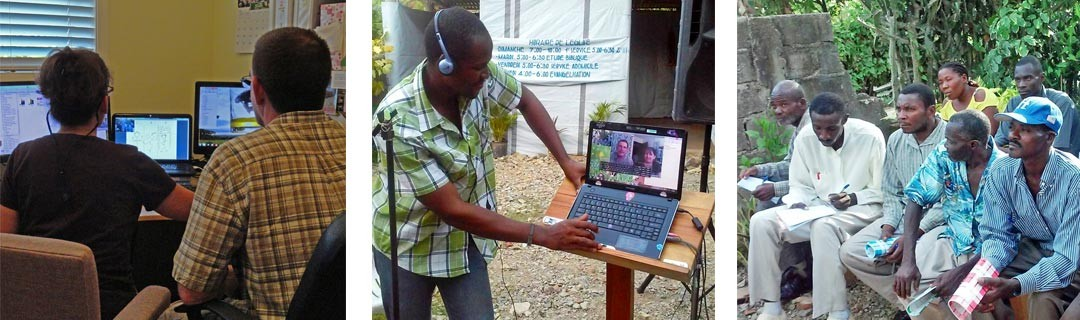 Reaching Haiti through technology . . .